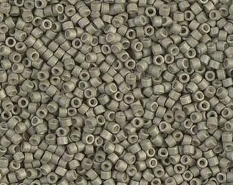 DB1170, MIYUKI DELICA BEAD, 11/0 Galvanized Matte Aloe, 5g, 10g, Delica Beads