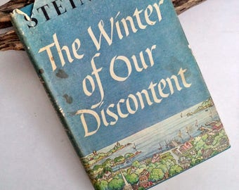 Winter of Our Discontent Book - Steinbeck, 1961 First Edition Book, Hardcover DJ book, Nobel Prize, US Literature, 1st Ed/1st Print, book