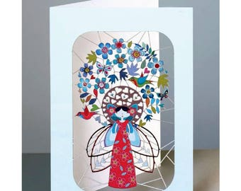 Fairies and Flowers - Laser cut greeting Card #231