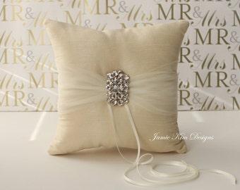 Handmade Ring Bearer Pillow- (Custom Made to Order)