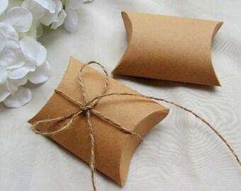 Kraft cardboard gift box folding packing jewelry 9 x 7 x 2, 4cm