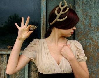 Golden Antlers Headpiece