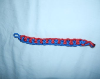 Paracord Bracelet - Red and Blue