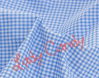 Fabric width 150 cm / Blue / sewing 150 x 50cm #7295