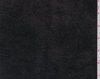 Walnut Brown Floral Chenille Jacquard, Fabric By The Yard