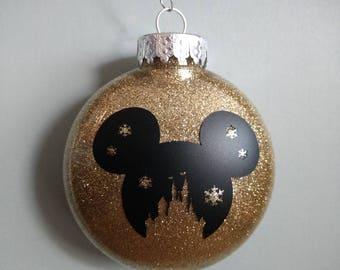 Gold Glittered Ear Castle Ornament