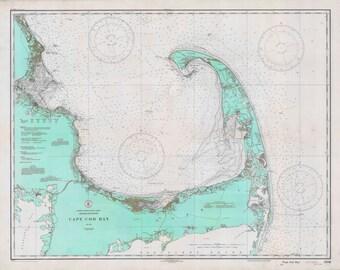 Cape Cod Map 1933 (Aqua)