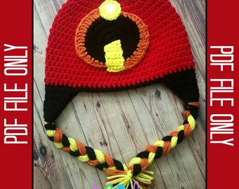 Incredibles Hat Crochet Pattern *** PDF FILE ONLY