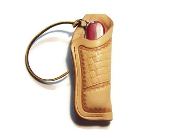 Medium Custom Leather Knife Sheath with belt loop hfbsk