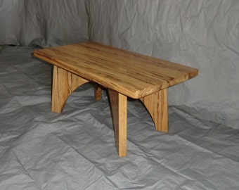 coffee table in spalted beech