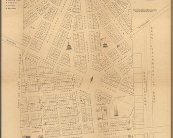 Poster, Many Sizes Available; Map Of Detroit, Michigan, 1831
