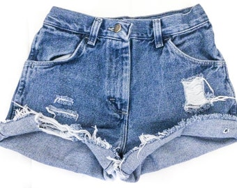Distressed Mid to High Waisted shorts,  Cut off shorts/All Sizes/Jean Shorts/ALL brands