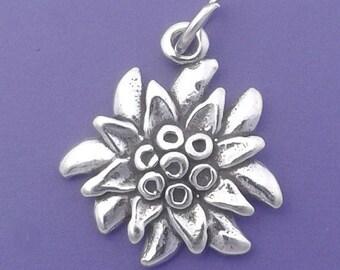 EDELWEISS FLOWER Charm .925 Sterling Silver Austria Germany Pendant - lp4096