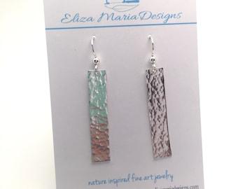 Hammered Argentium Silver Earrings, Sterling Silver Earrings, Sterling Silver, Hammered Silver Earrings, Textured Silver Earrings