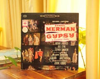 Gypsy A Musical Fable Record, Vintage 1959 LP Album, Ethel Merman Original Broadway Cast Recording Soundtrack Gift
