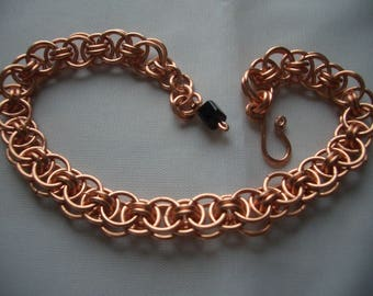 Copper Helm Weave chainmaille Bracelet