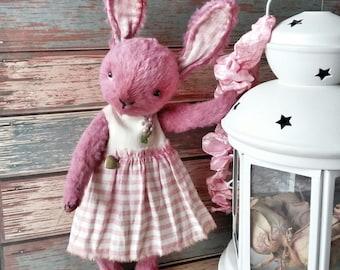 Cute Vintage Pinki Rabbit,  handmade