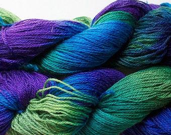 Firefly, Superwash/Tencel, 4 oz, 412 yds - Blue Peacock