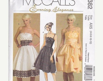 ON SALE 2007's Sewing Pattern - McCall's 5382 Dress and Sash Size 4-12  Uncut, Factory Folded