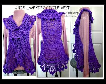 VEST CROCHET PATTERN, Mandala Circle Vest, Bohemian Vest, Teen and adult, plus size. #1125