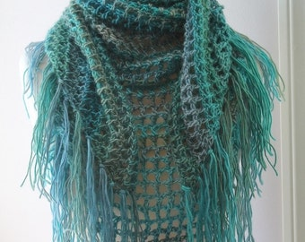 Crochet PATTERN - Crochet Scarf Pattern - Triangle Scarf Pattern - Crochet Patterns for Women - Kerchief Shawl Pattern - PDF 366