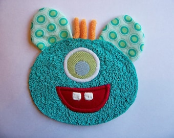 One Eye Teal Monster Patch