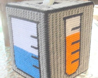 Science Tissue Box Cover Plastic Canvas Pattern