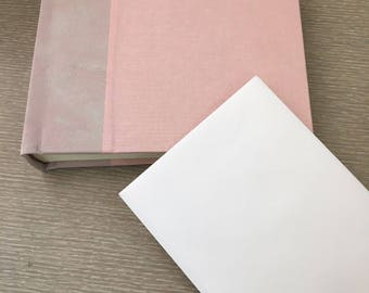 Archival Photo Albums [Custom Made, Leather bound with cloth front and back]