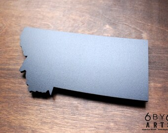 Montana State Chalkboard Magnet   Small Chalkboard   State Shapes   Gifts From Home   Rocky Mountains