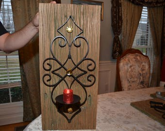 Reclaimed Wormy Chestnut Candle Holder