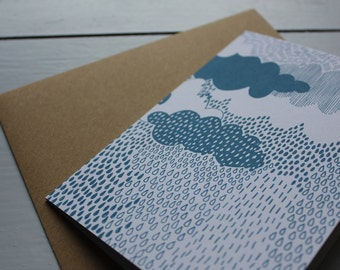 Rain cloud card