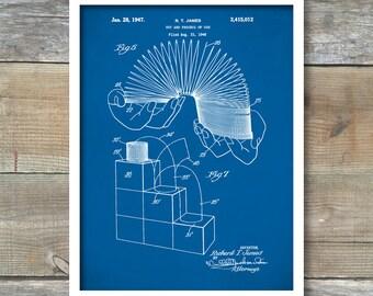 Slinky Toy Patent, Slinky Toy Poster, Slinky Toy Print, Slinky Toy Art, Slinky Toy Decor, Slinky Toy Blueprint, Slinky Toy Wall Art, P79