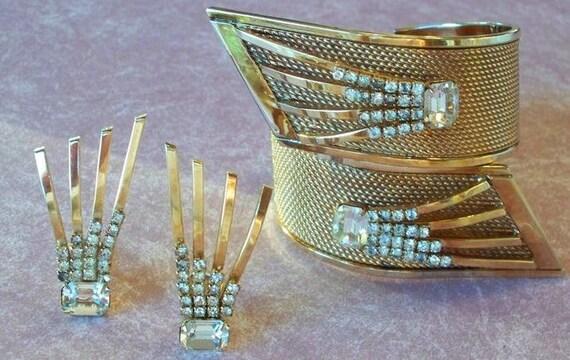 Vargas Starburst Deco Bracelet and Earrings