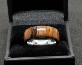 Dalmata Wood Ring Size 9