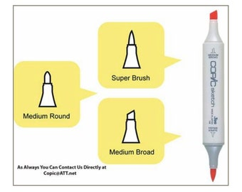 Copic - Sketch Marker - Replacement Nibs - Medium Round - Package 5 - Special Sale!