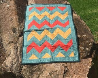 New born chevron blanket