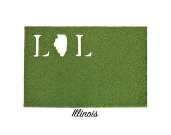Illinois Synthetic Grass Doormat | Rug | Wall Decor