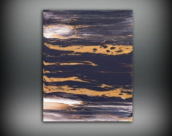 ORIGINAL Painting, Art Painting Acrylic Painting Abstract Painting Purple Wall Hanging Small Wall Art Modern Wall Decor 8x10 Gray Painting