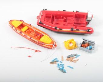 Playmobil, Vintage, Rafting, Trekking, Star, Set, Raft, Boat, Utensils, Case, Fishing Rod, Sports, Plastic, Toys ~ The Pink Room ~ 170221