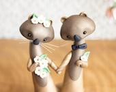 Sea Otter Wedding Cake Topper by Bonjour Poupette
