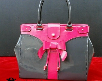 Genuine pattern leather handcrafted woman's handbag.