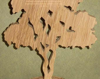 """WOODEN tree """"pin"""" with its base to stick"""