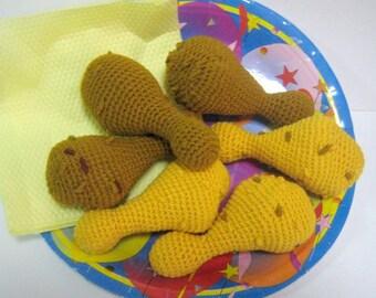 Chicken Drumlet Crochet Pattern Food Crochet Pattern PDF Instant Download Chicken Drumlet(Deep-Fried or Oven-Roasted)