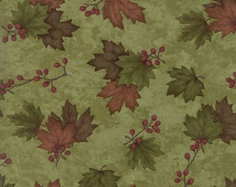Moda COUNTRY ROAD Quilt Fabric 1/2 Yard By Holly Taylor - Moss Green 6668 23