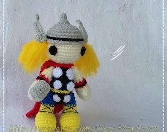 Thor 6 inches - PDF amigurumi crochet pattern
