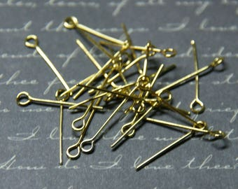 20 nails gold 20mm metal eyelet