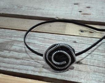 Closure black headband