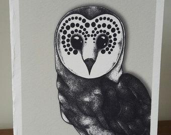 Barn Owl Blank Card