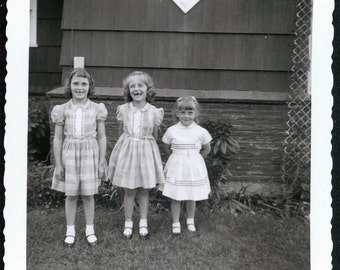 vintage photo The Toothless Twins and little Sister 1961