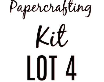 Papercrafting Kit Lot 4
